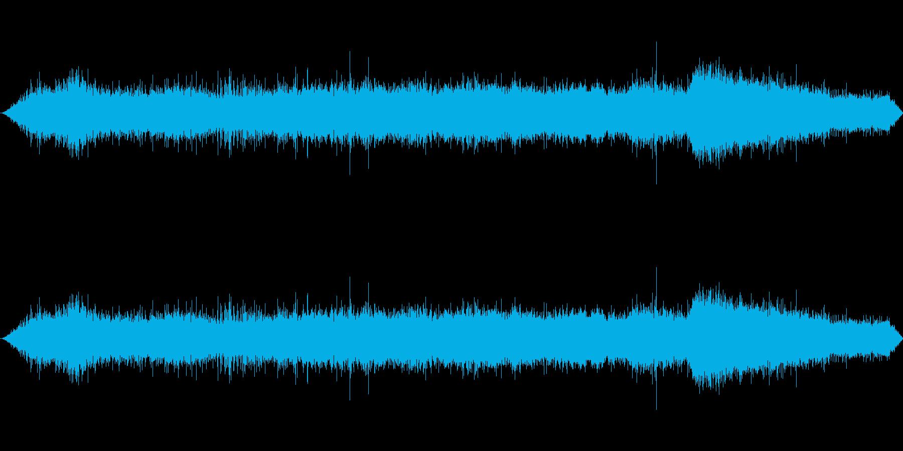 焼き肉の音の再生済みの波形