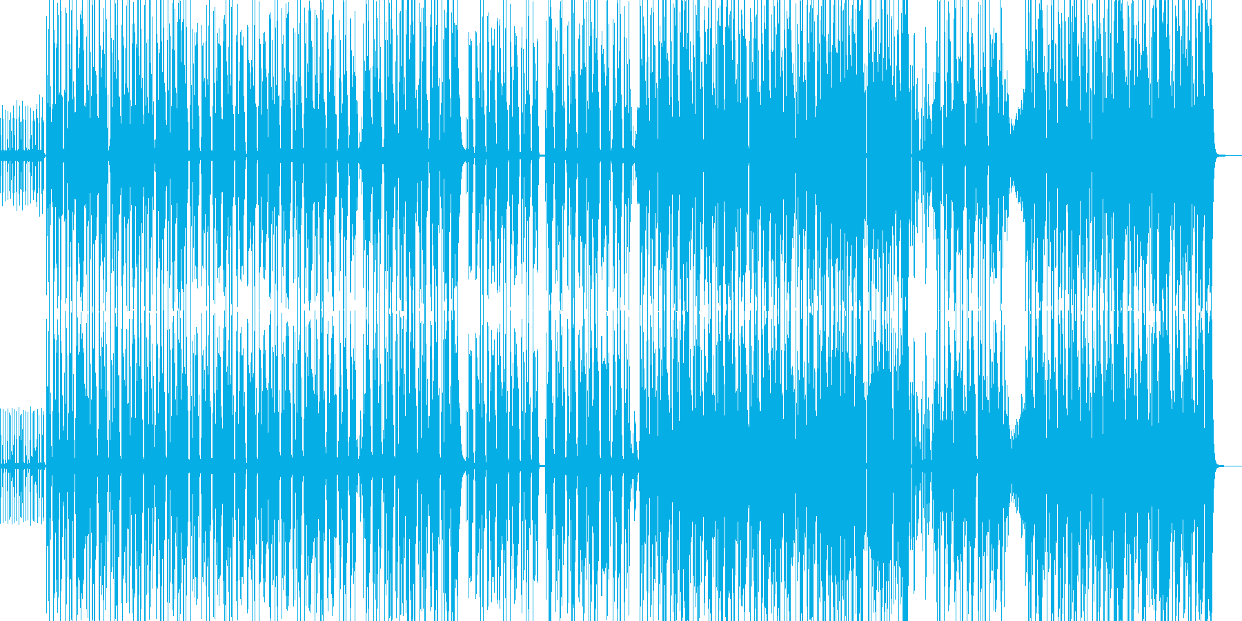 フリーラップ出来るHip-hopトラックの再生済みの波形