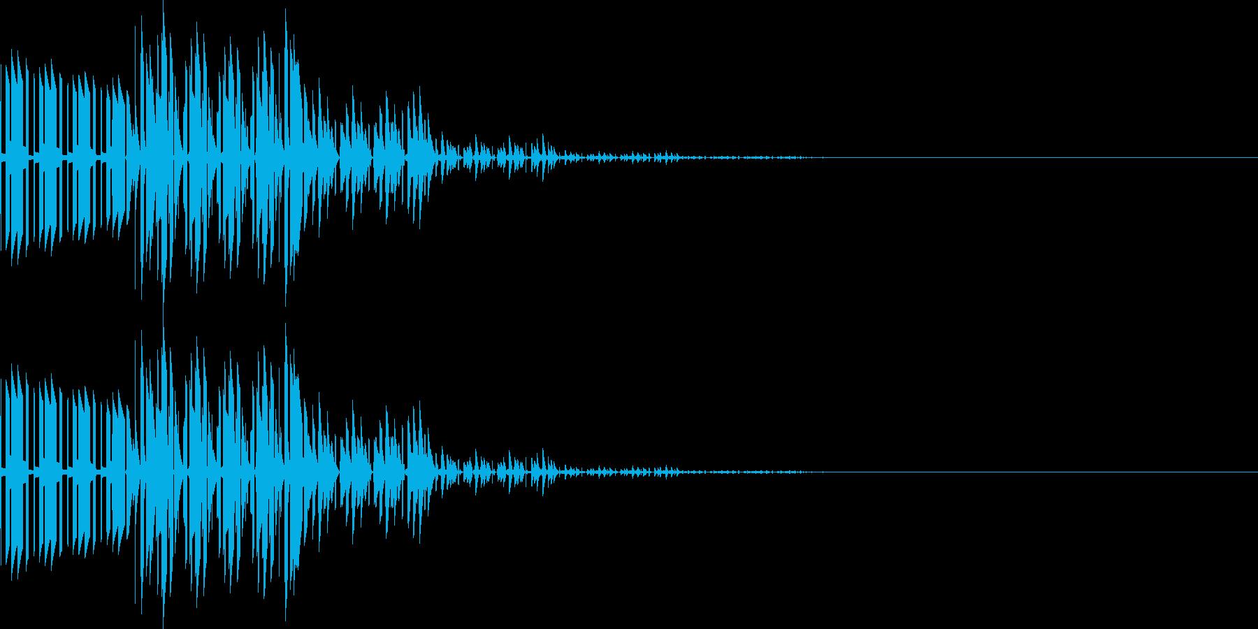 ブブン(キャンセル、電子モニタ表示)の再生済みの波形