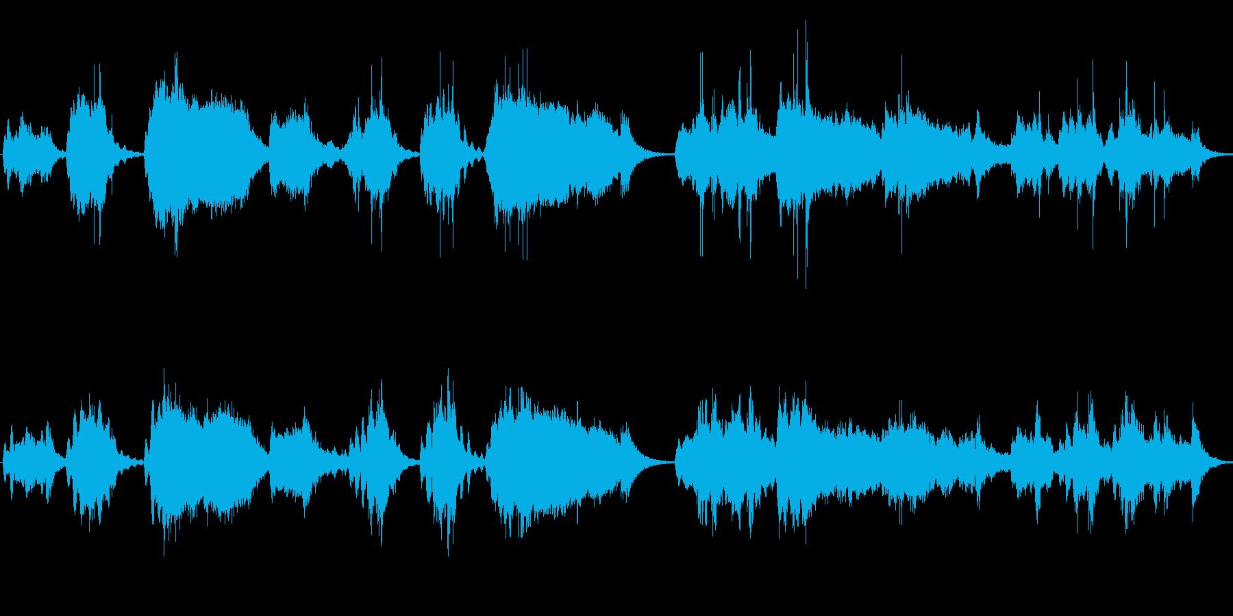 奇妙で緊張感のあるアンビエント音楽の再生済みの波形