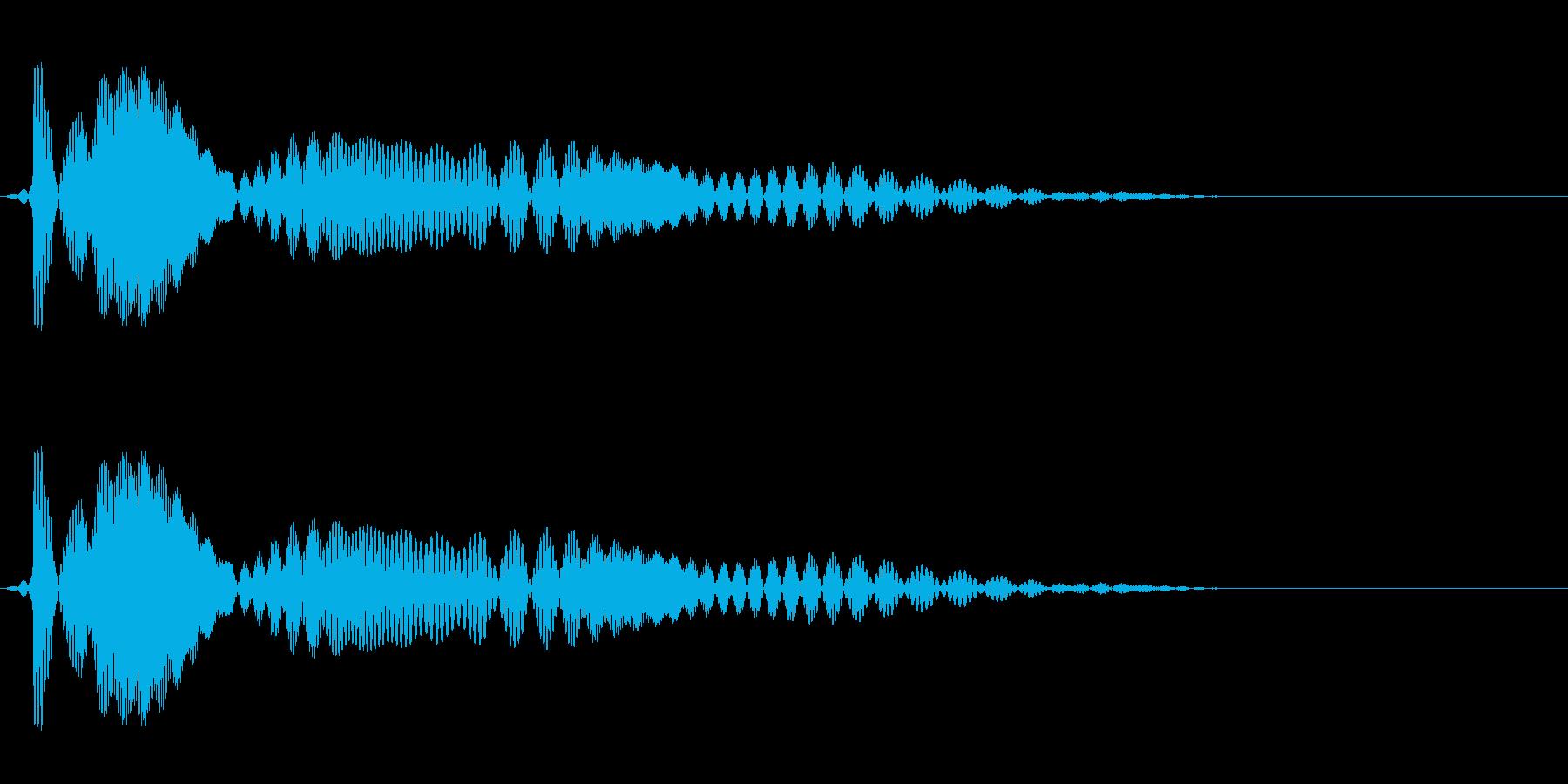 プワァワワン(登場や退場に)の再生済みの波形