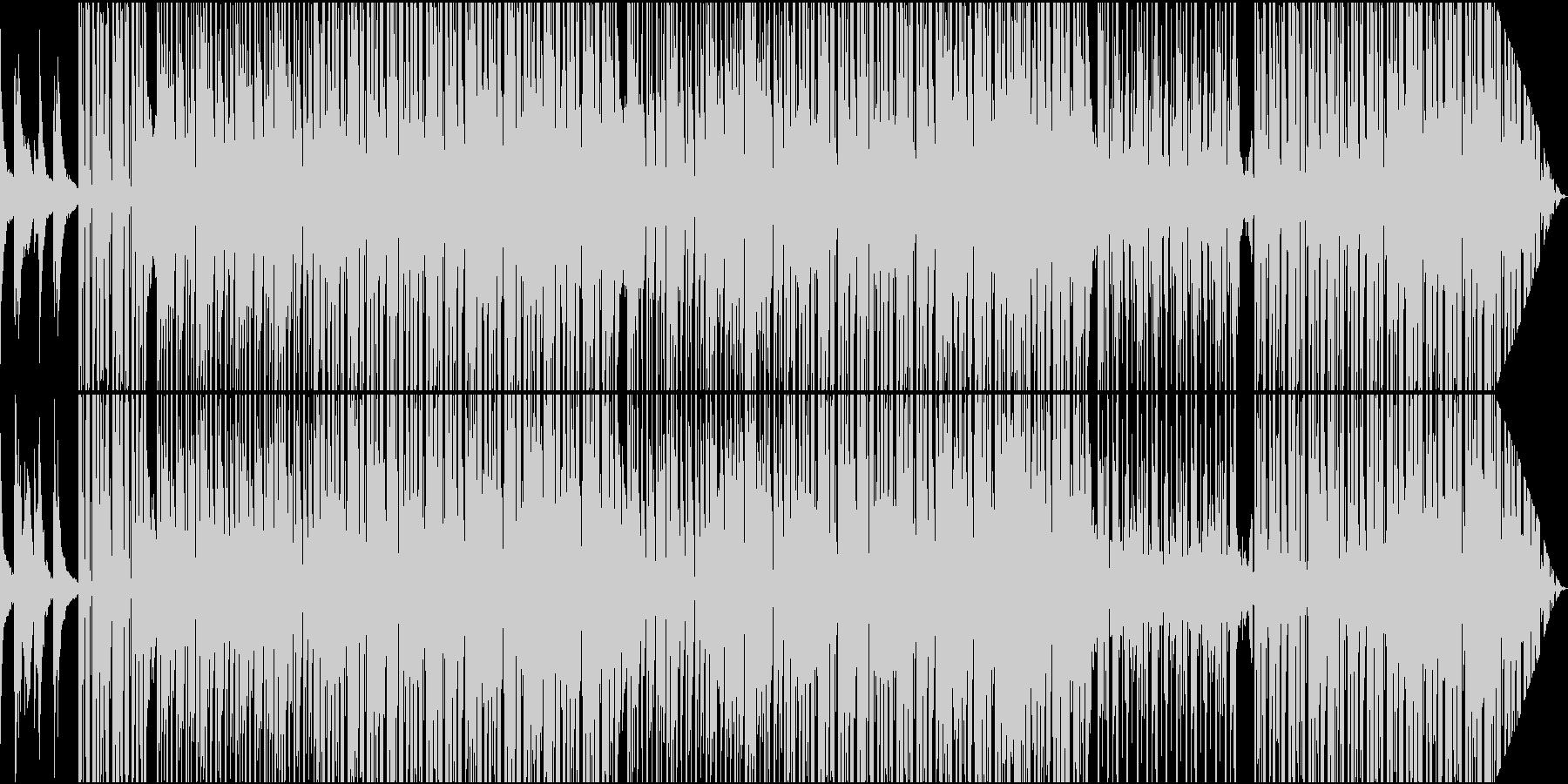 クールなR&B系ミディアムスローの未再生の波形