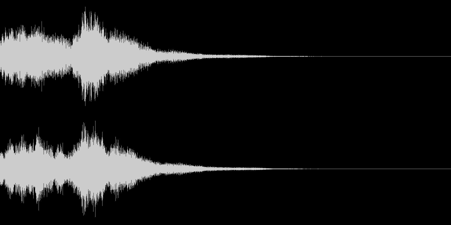 琴と刀の【シャキーン!】和風ロゴ 13の未再生の波形