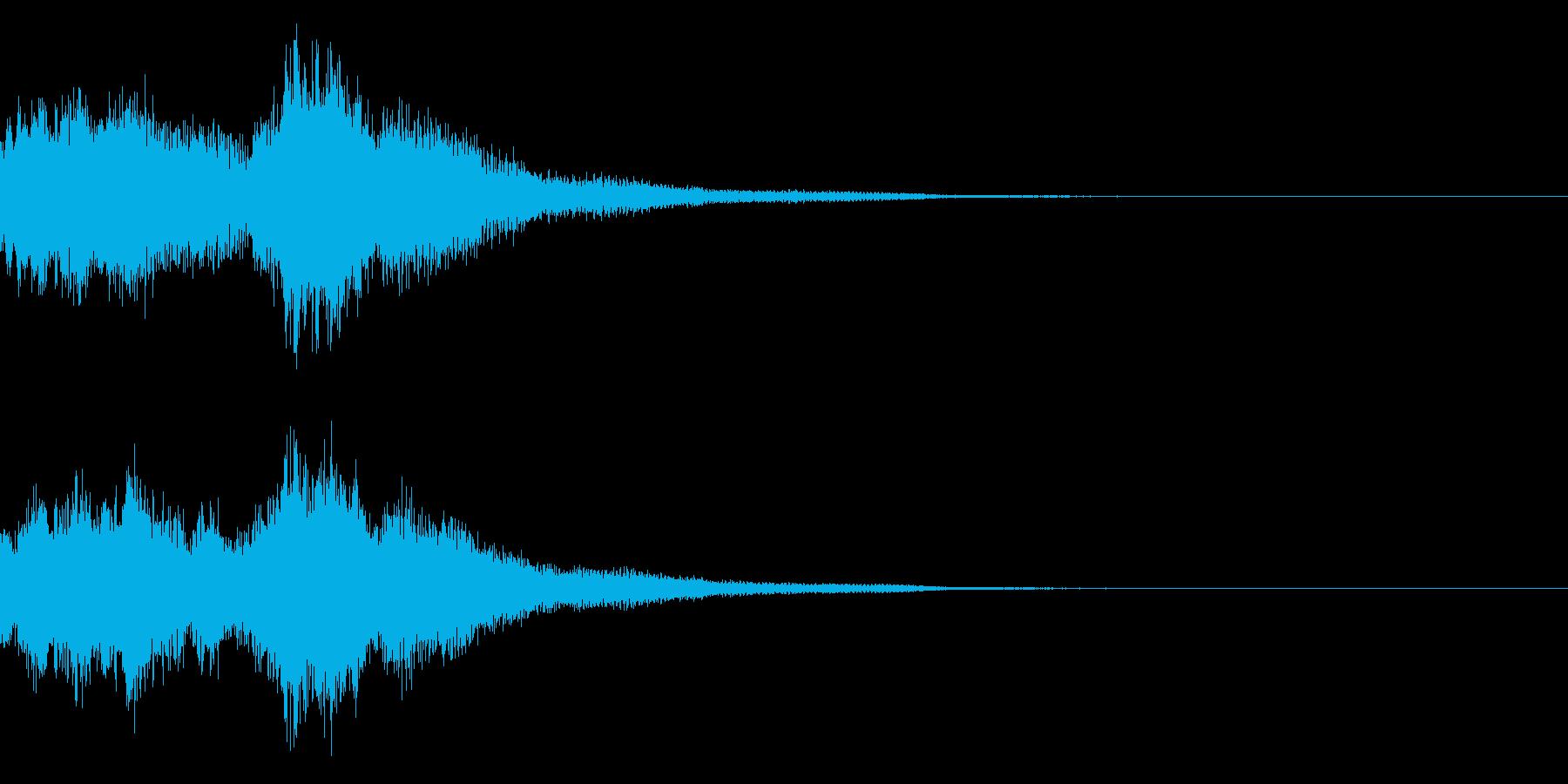 琴と刀の【シャキーン!】和風ロゴ 13の再生済みの波形