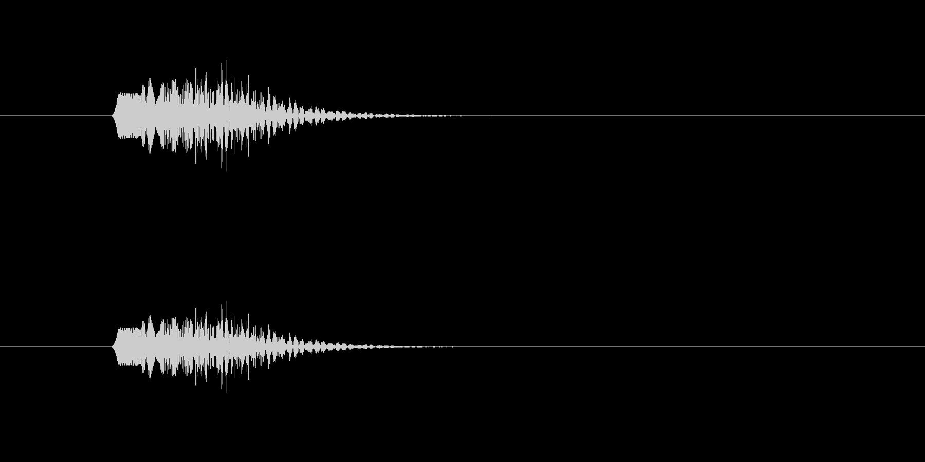 ファンファンファン(シンプル、短い)の未再生の波形