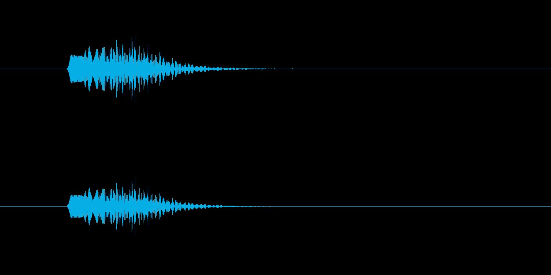 ファンファンファン(シンプル、短い)の再生済みの波形
