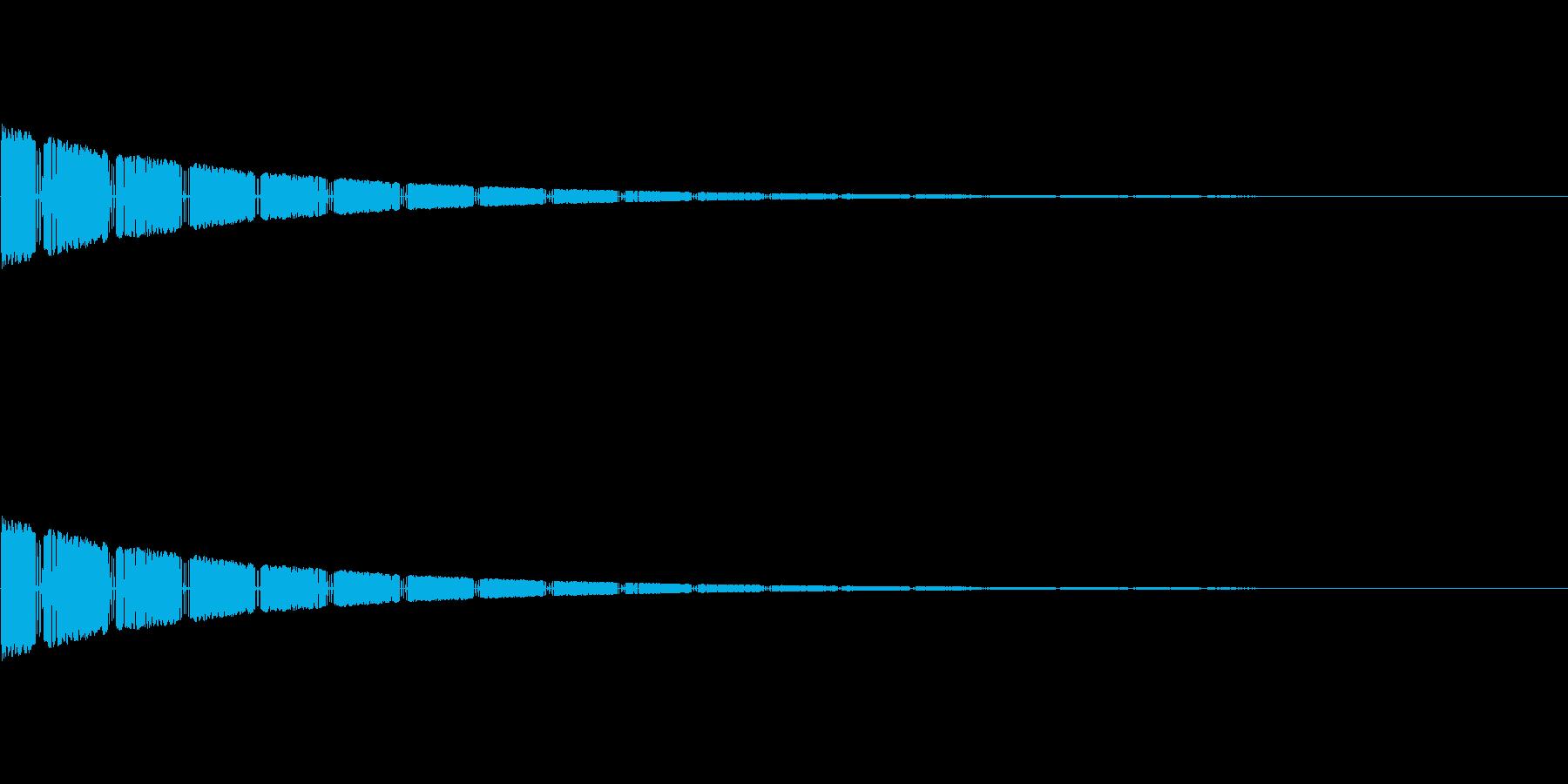 びびびーん(びっくりした効果音)の再生済みの波形