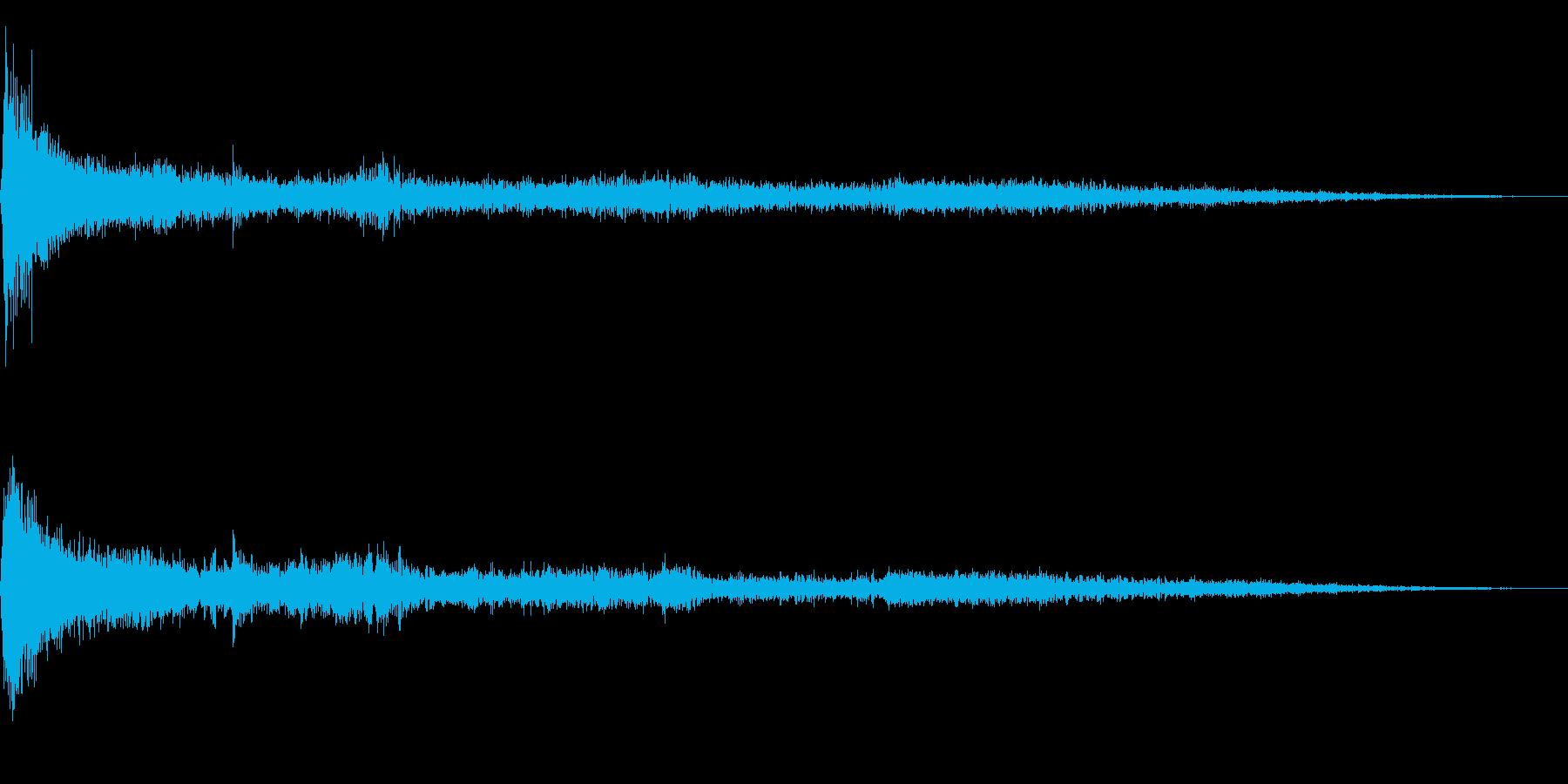 ホラー映画に出てきそうなノイズ系音源08の再生済みの波形
