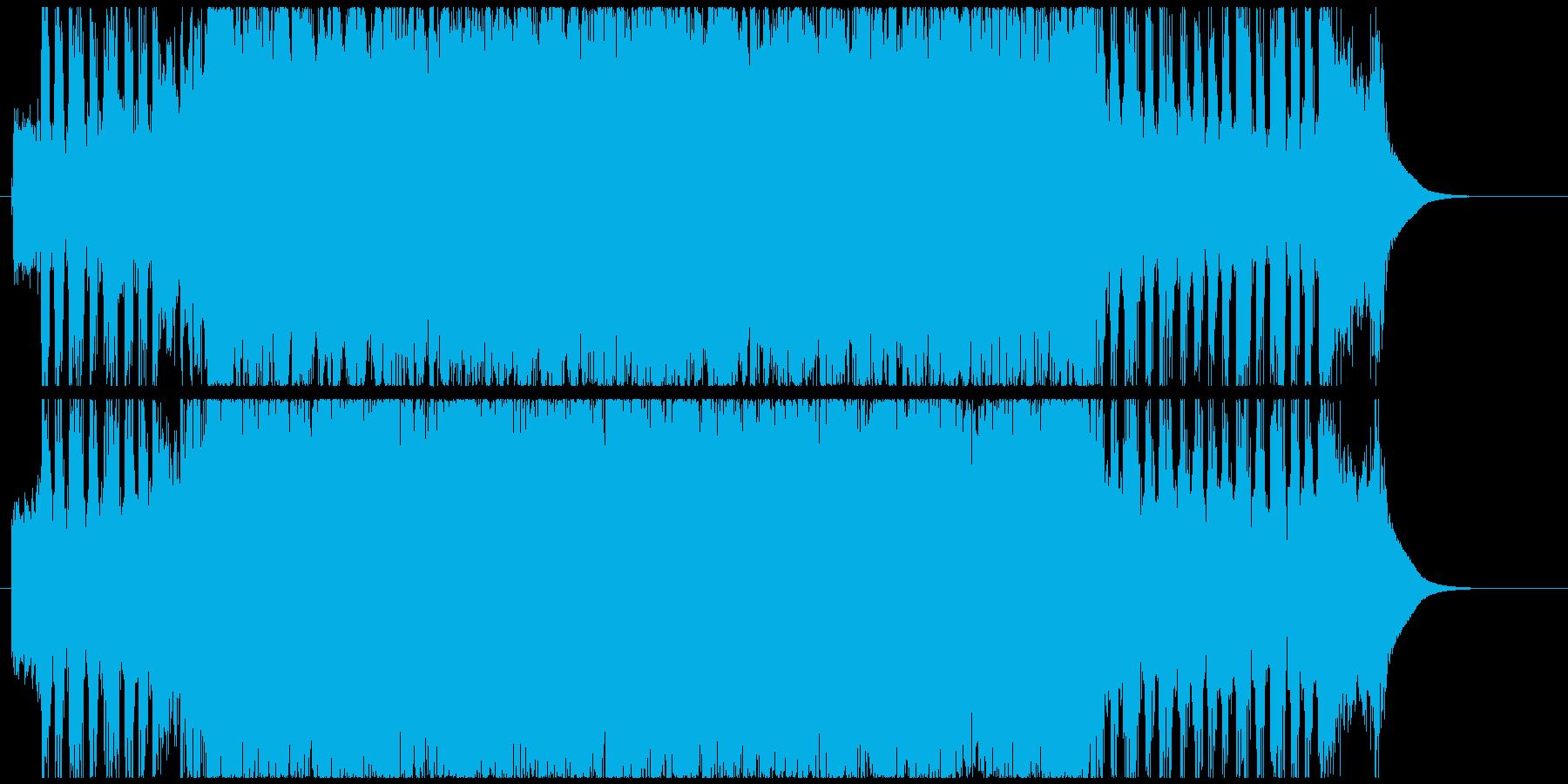 明るいハードロックなインストの再生済みの波形