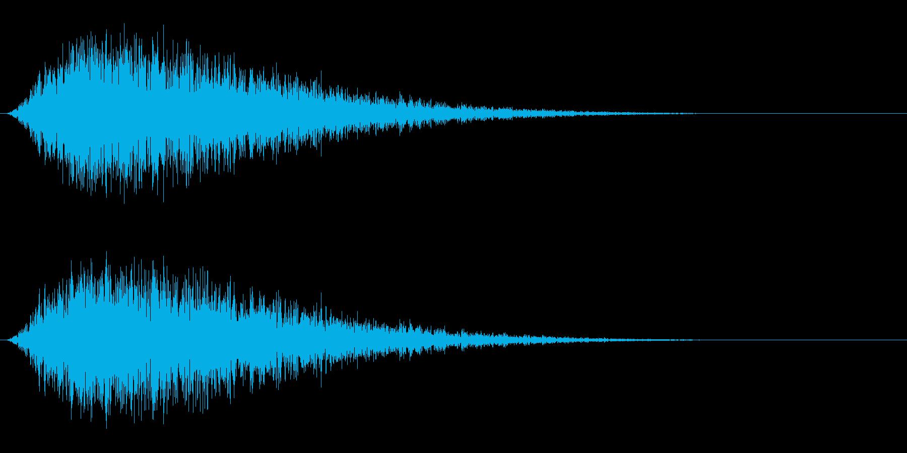 風魔法/ウインド/回転の再生済みの波形