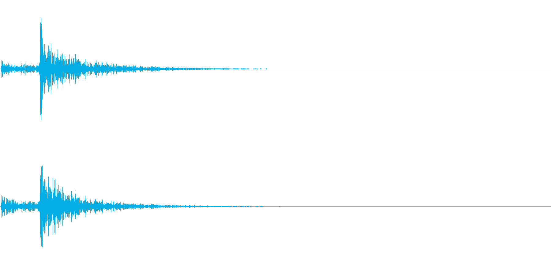 カチャッ(鍵が開く音)の再生済みの波形
