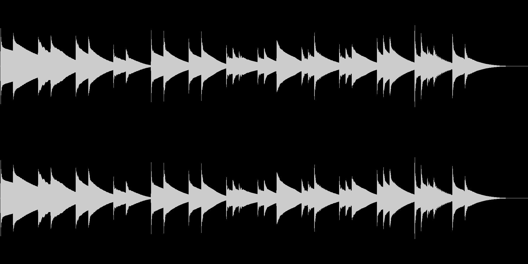 (約30秒)哀愁漂うチェレスタ曲単音のみの未再生の波形