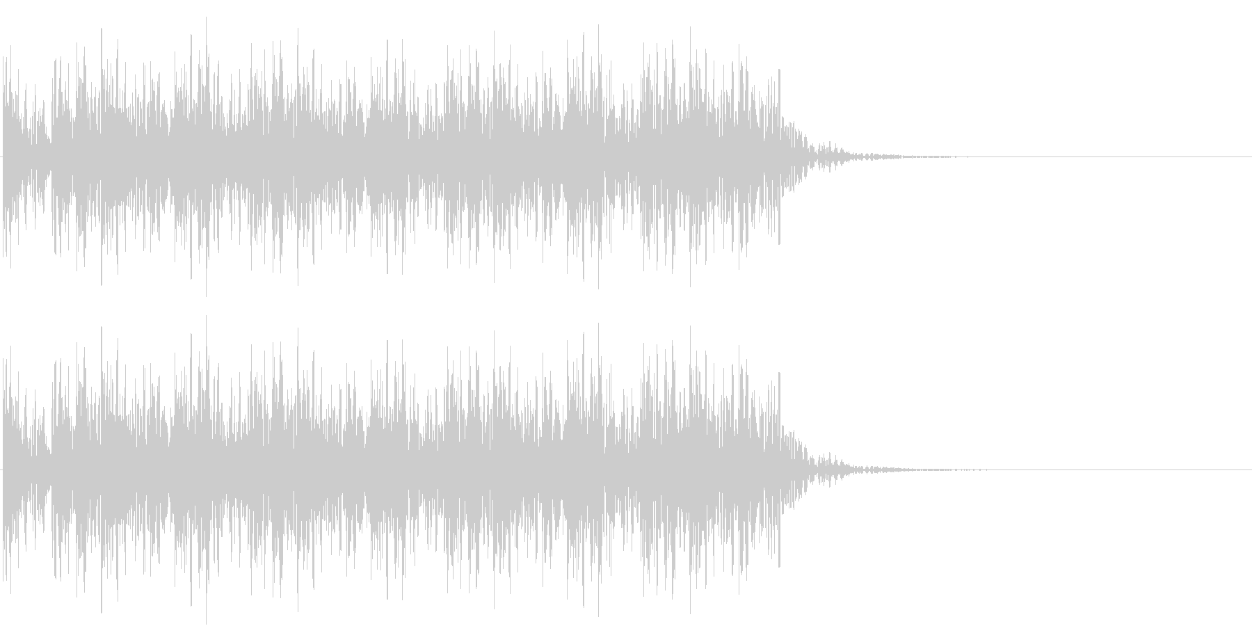 太鼓連続の未再生の波形