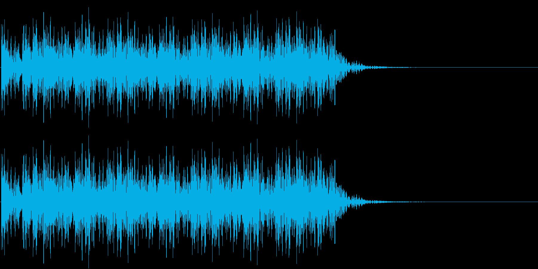 太鼓連続の再生済みの波形