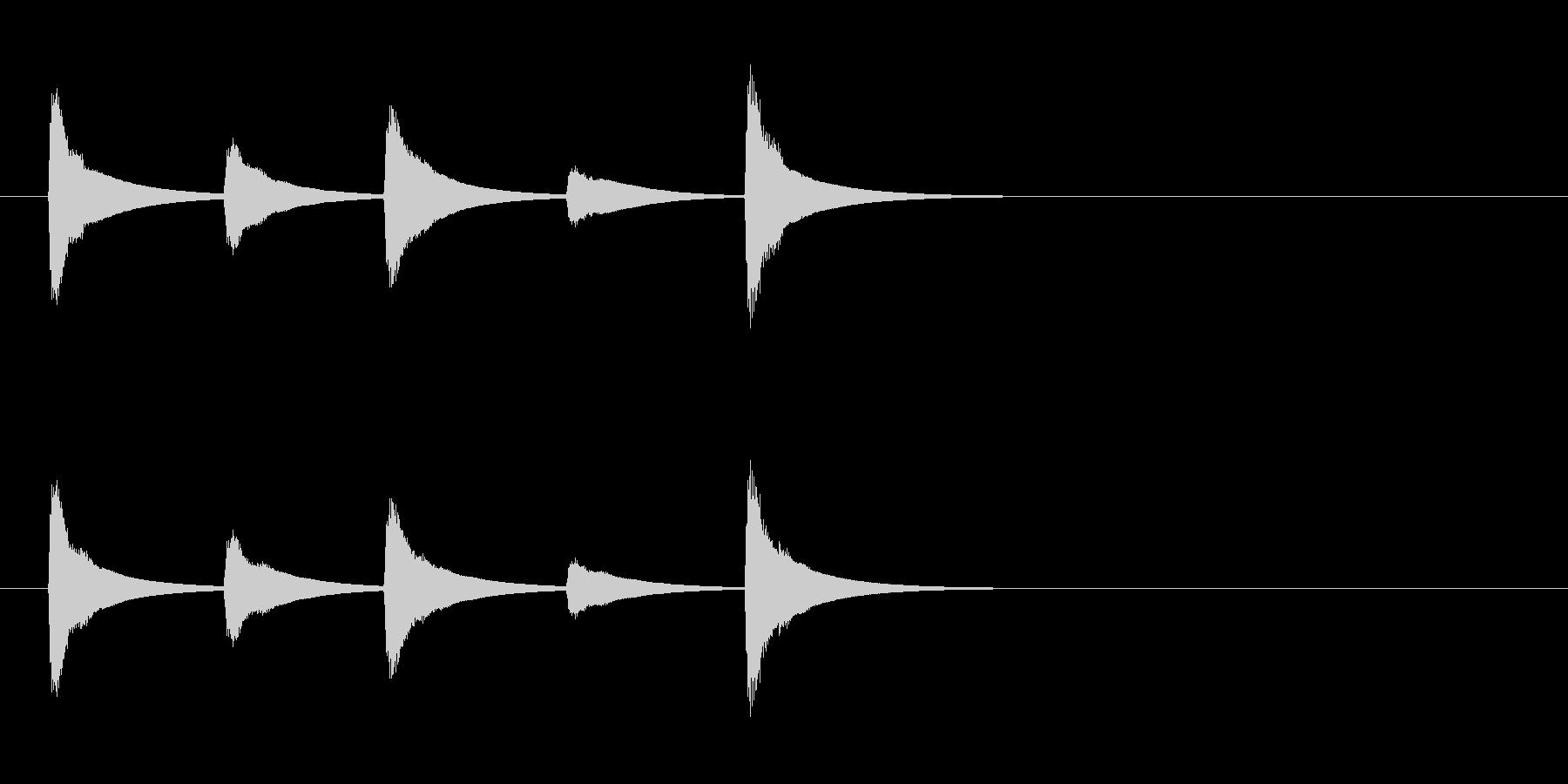 【SE 効果音】ティロティリロリン7の未再生の波形