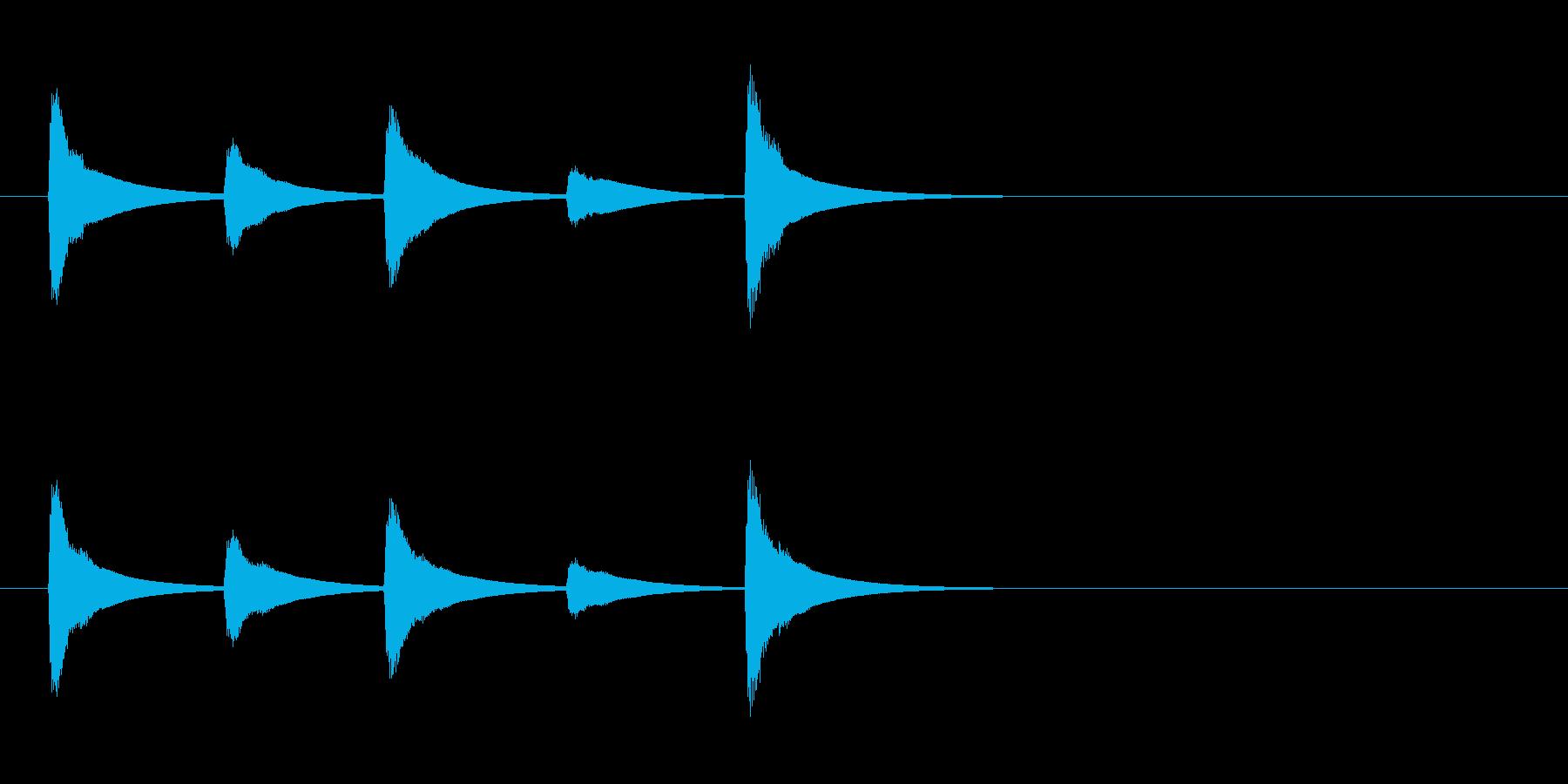 【SE 効果音】ティロティリロリン7の再生済みの波形