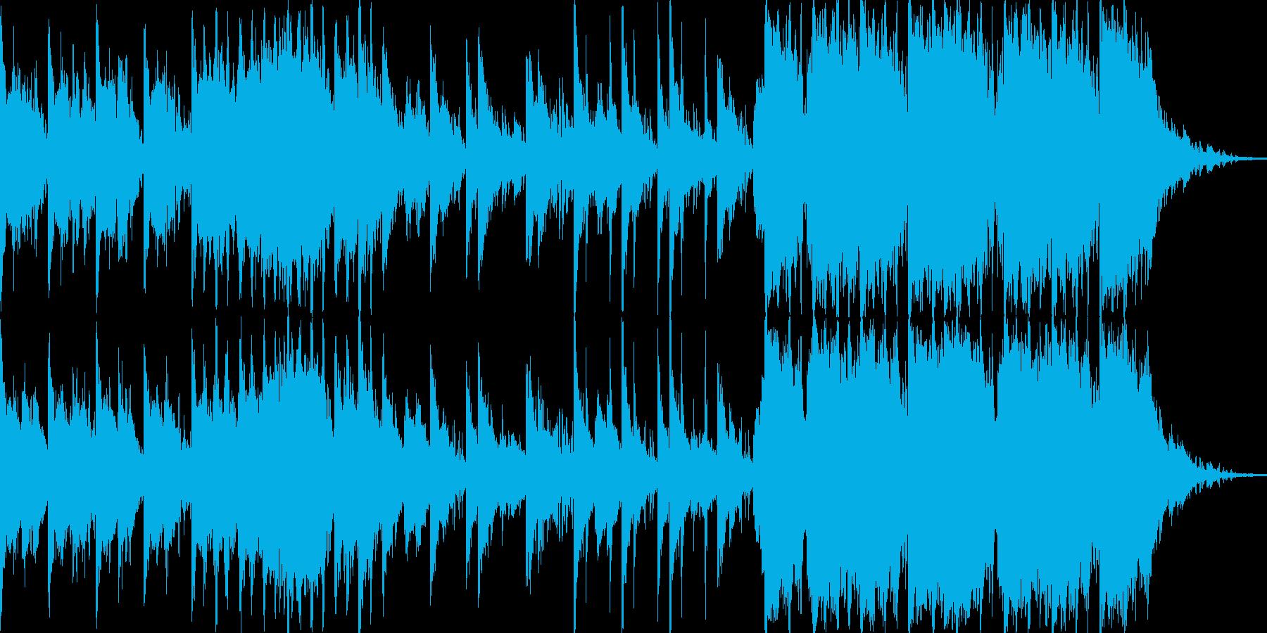 エレクトロで鈍重なリズムのオーケストラ。の再生済みの波形