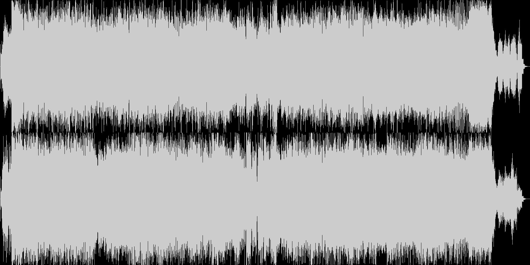 バトルアクションのゲームBGMのイメージの未再生の波形