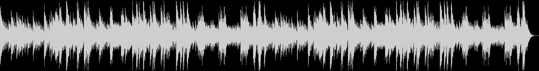 コロコロとした音のソロ・ピアノ曲の未再生の波形