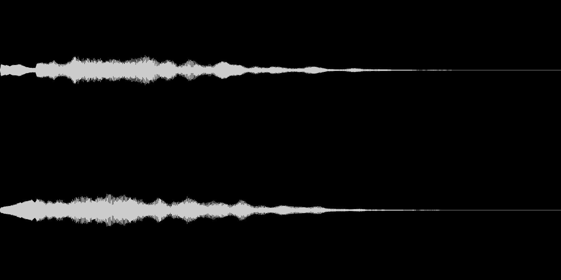 お知らせのベルの音の未再生の波形