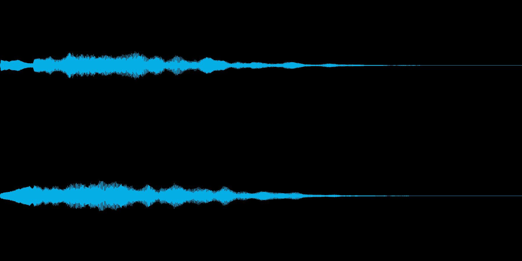 お知らせのベルの音の再生済みの波形