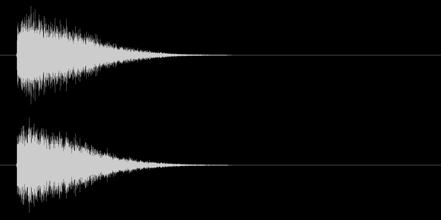 魔法発射の未再生の波形