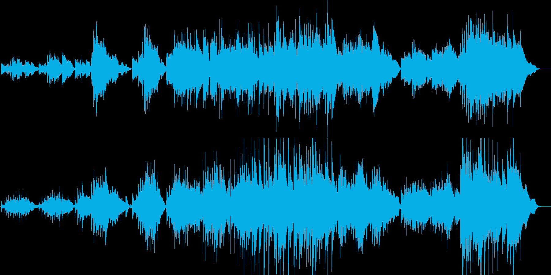分岐点に立った時のピアノソロの再生済みの波形