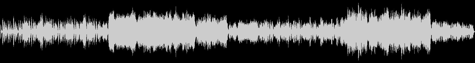 民族音楽風のBGMの未再生の波形