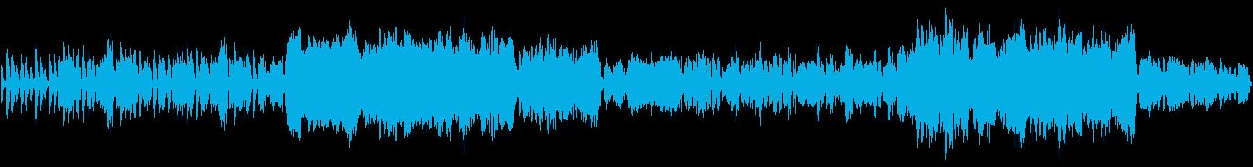 民族音楽風のBGMの再生済みの波形