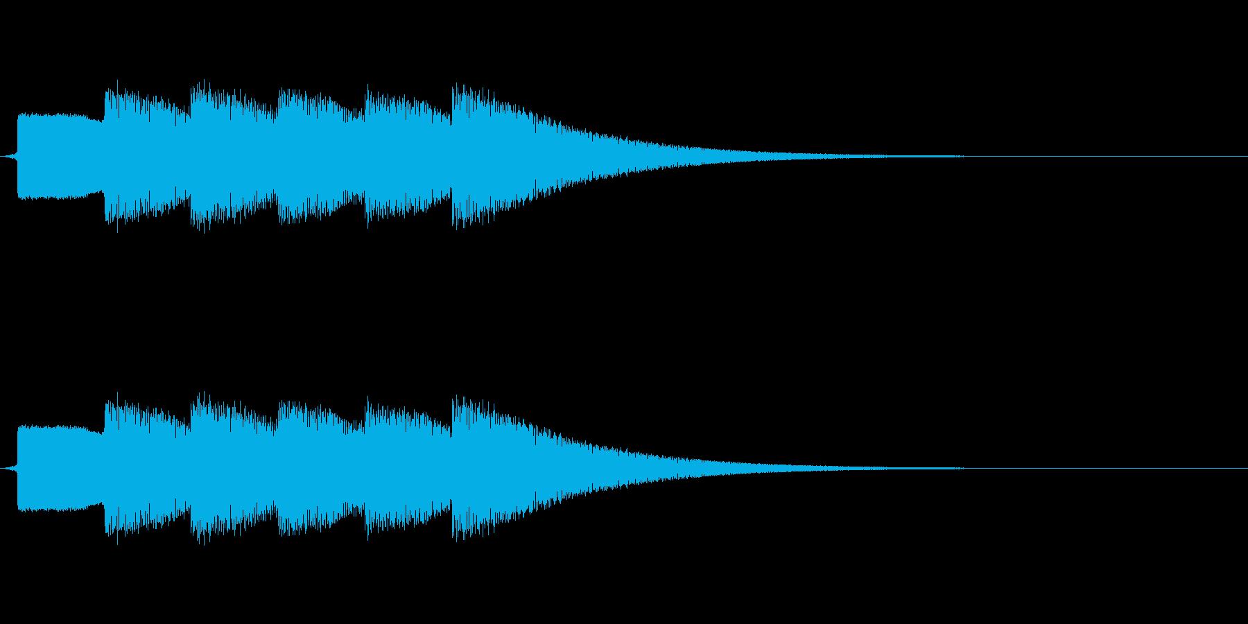 ピンポンピンポンピンポン(正解)の再生済みの波形
