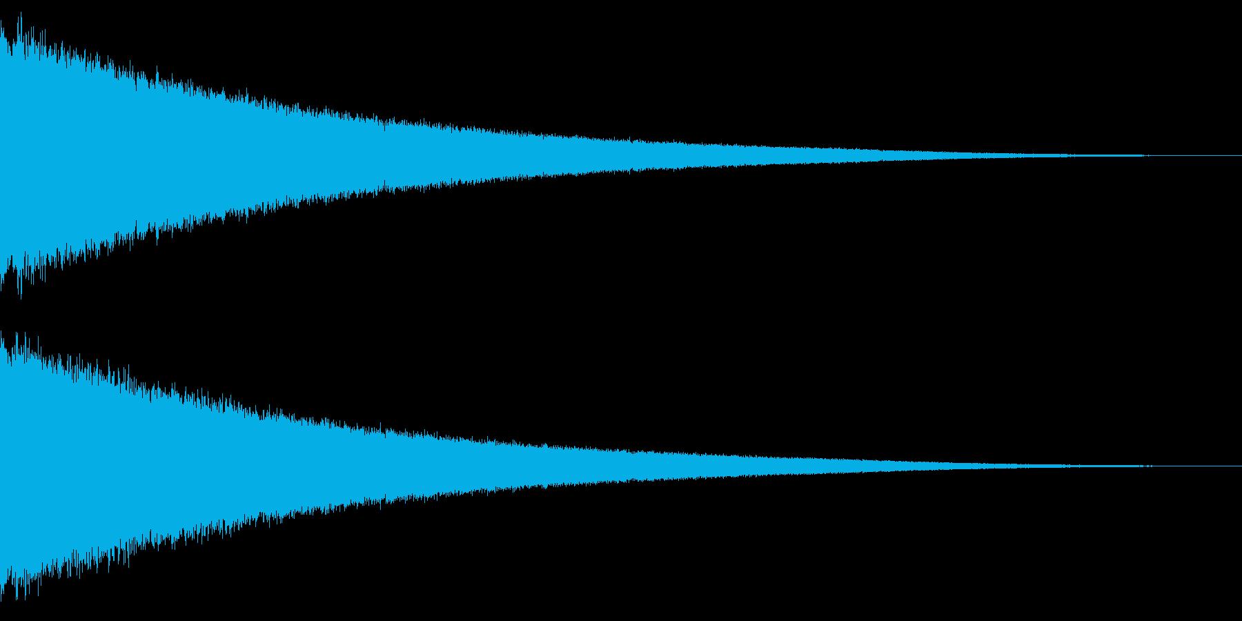 シューッ 空気が抜ける 気が抜けるの再生済みの波形