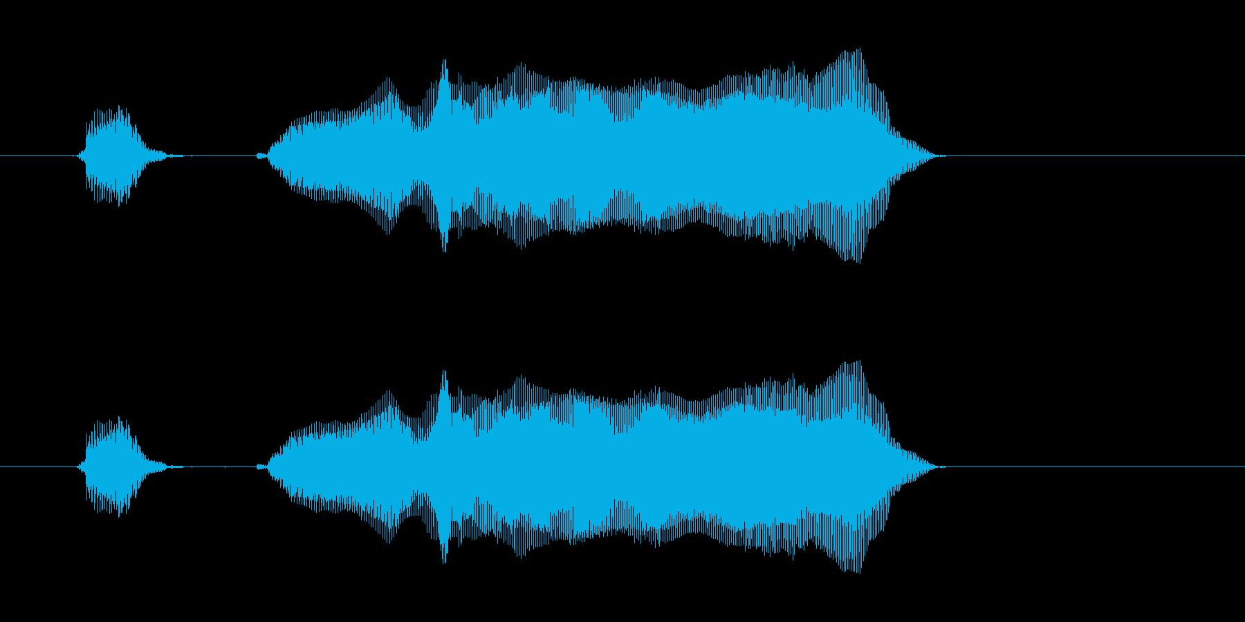 いくよー!の再生済みの波形