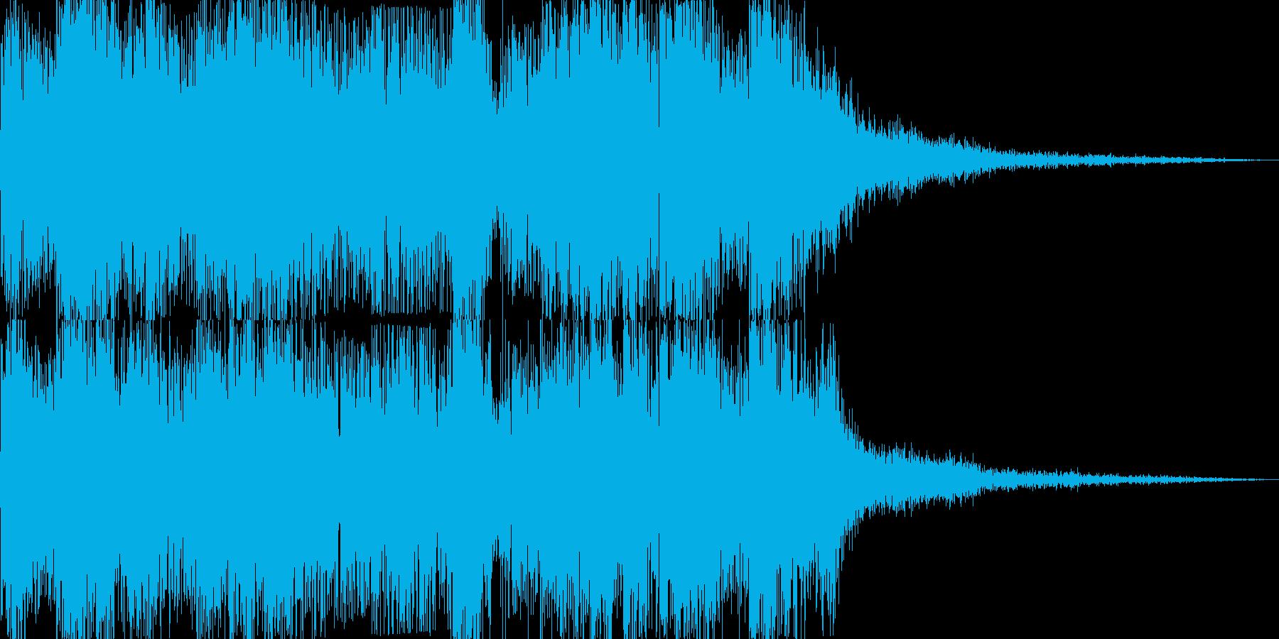 連続爆発(建物が爆発するときに)の再生済みの波形