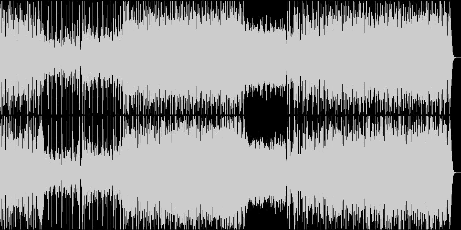 ギターが絡み合うオルタナティブロックの未再生の波形