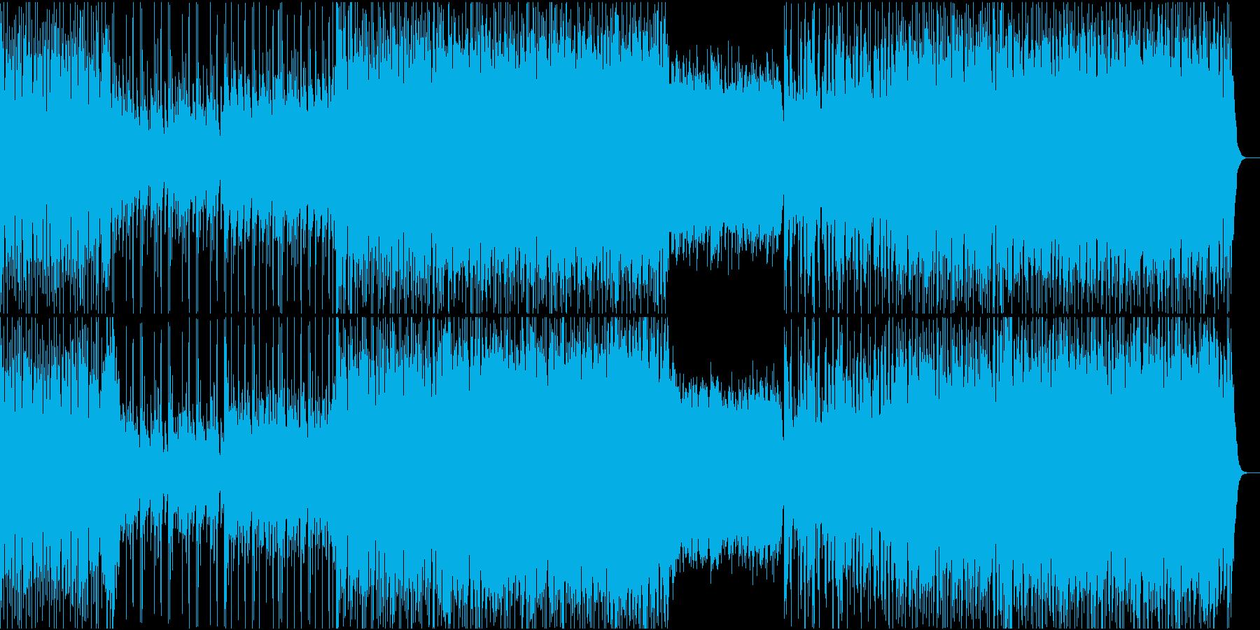 ギターが絡み合うオルタナティブロックの再生済みの波形