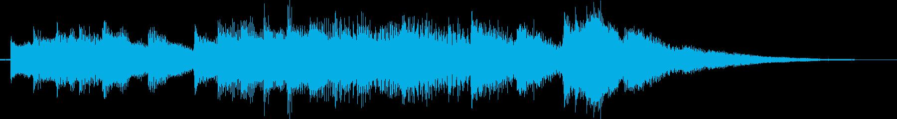 発車メロディ的なジングルチャイムの再生済みの波形