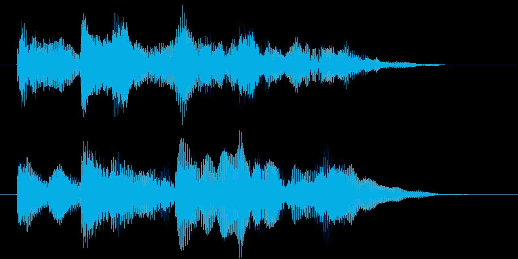 パソコンを起動するときの様な音の再生済みの波形
