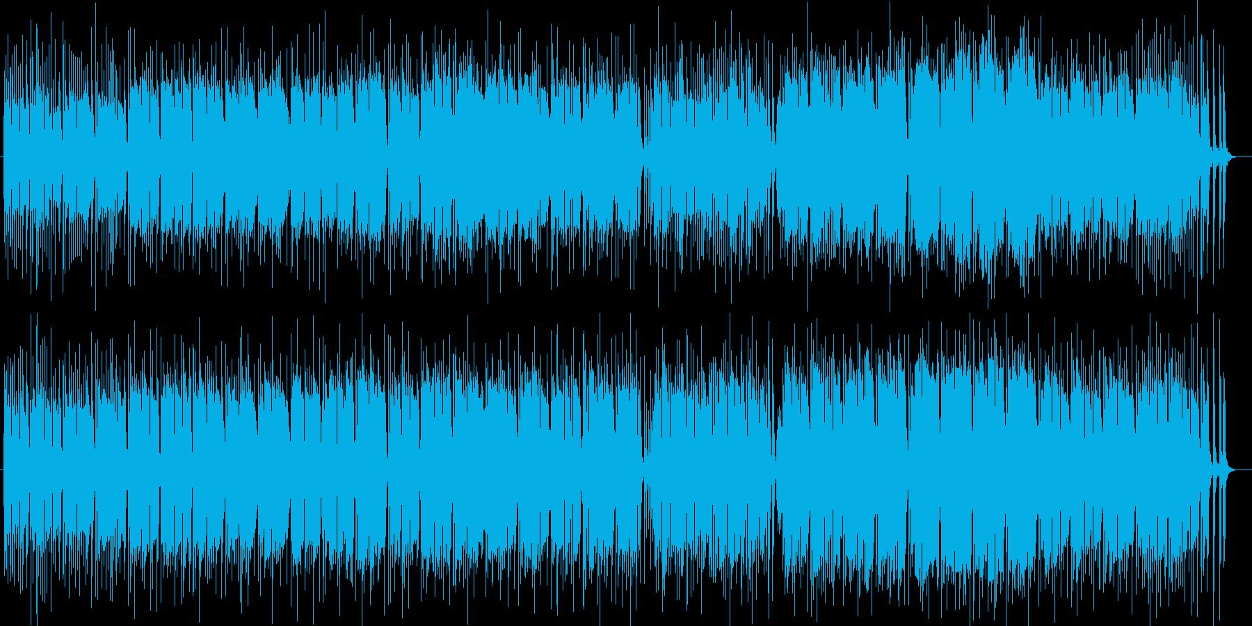 南国の風景の木琴シンセサイザー系サウンドの再生済みの波形