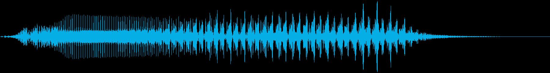 猫の鳴き声 3 怒り みぎゃー!の再生済みの波形