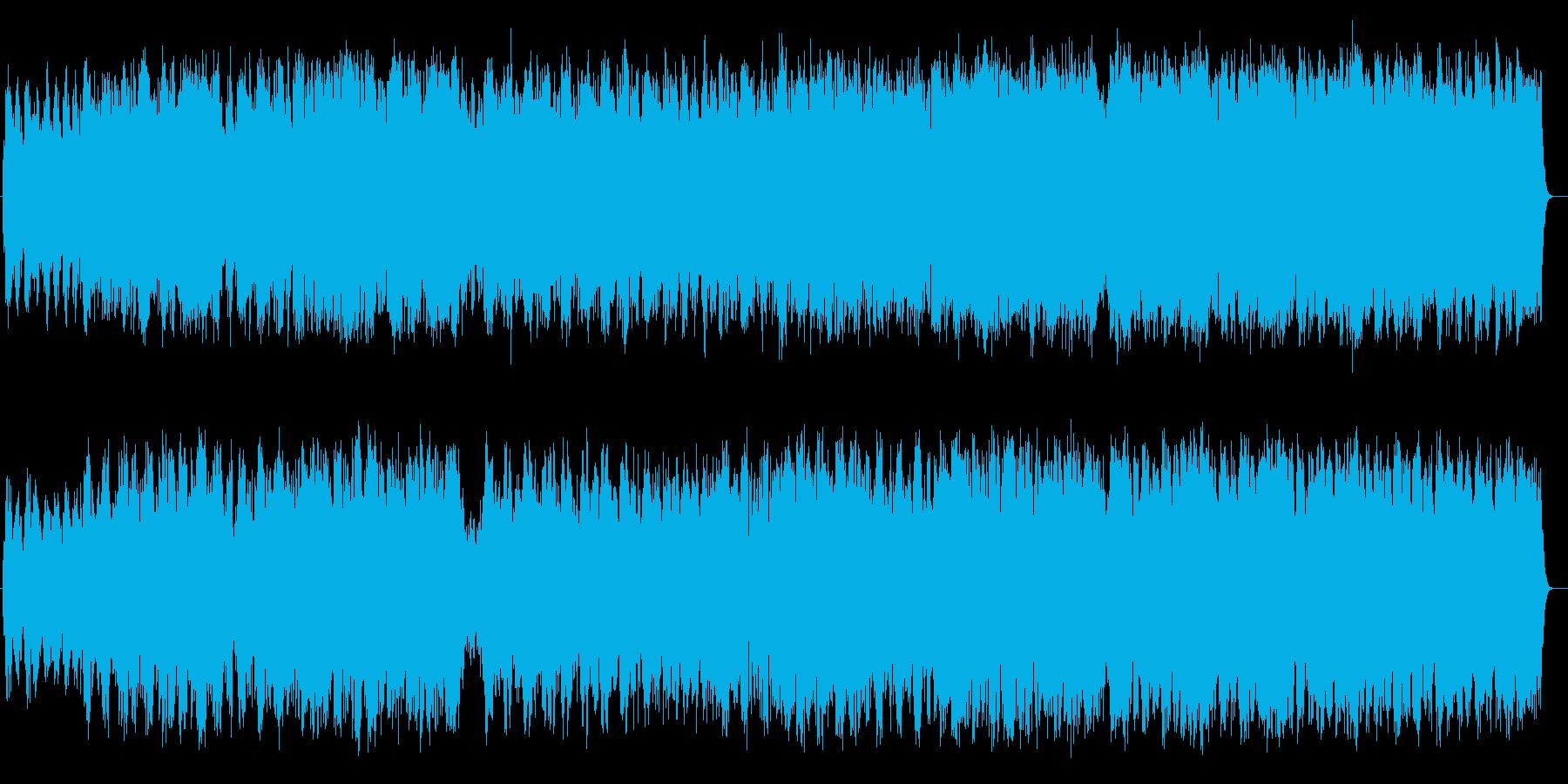 哀しげなシンセ・管楽器などのサウンドの再生済みの波形
