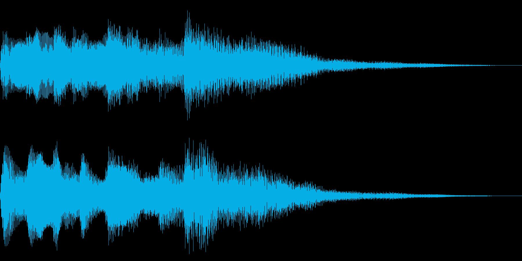 クリーントーンギター 勇壮なアルペジオの再生済みの波形