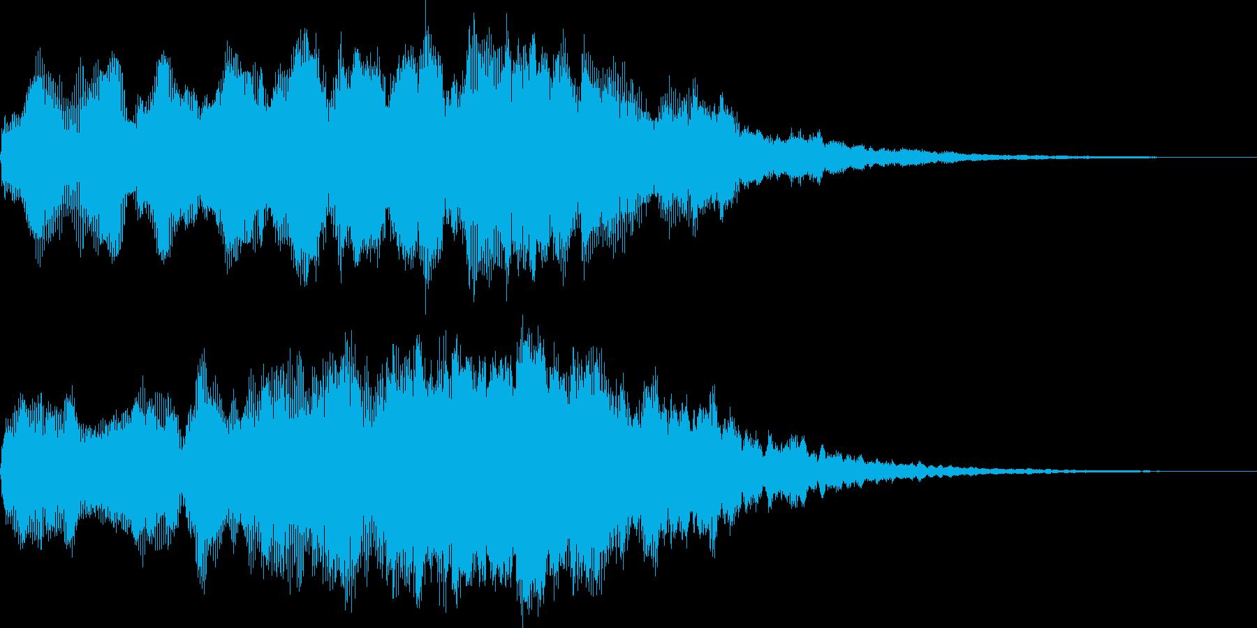 オープニング用アイコン表示サウンドロゴの再生済みの波形