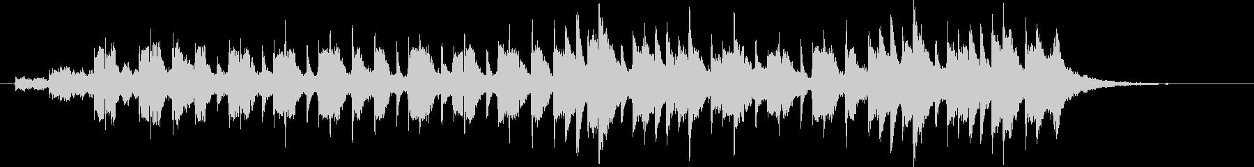 神秘的でゆったりとしたピアノジングルの未再生の波形