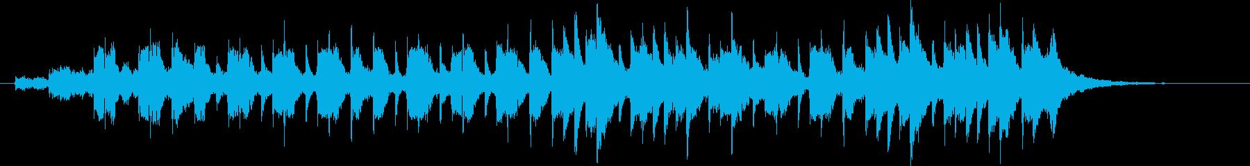 神秘的でゆったりとしたピアノジングルの再生済みの波形