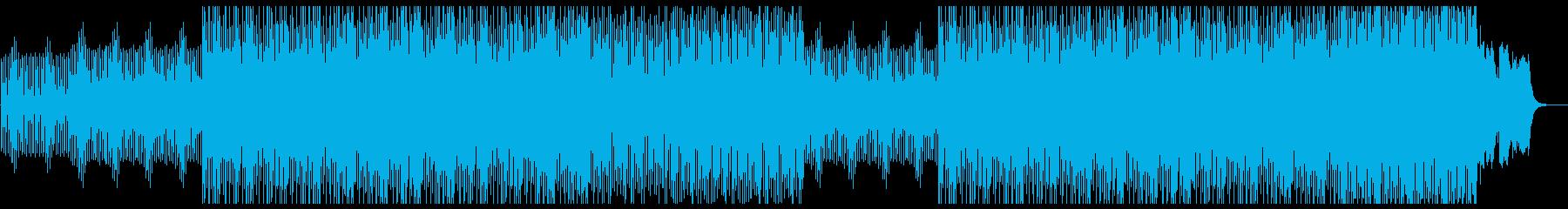 ミステリアスでメロディアスなシンセBGMの再生済みの波形