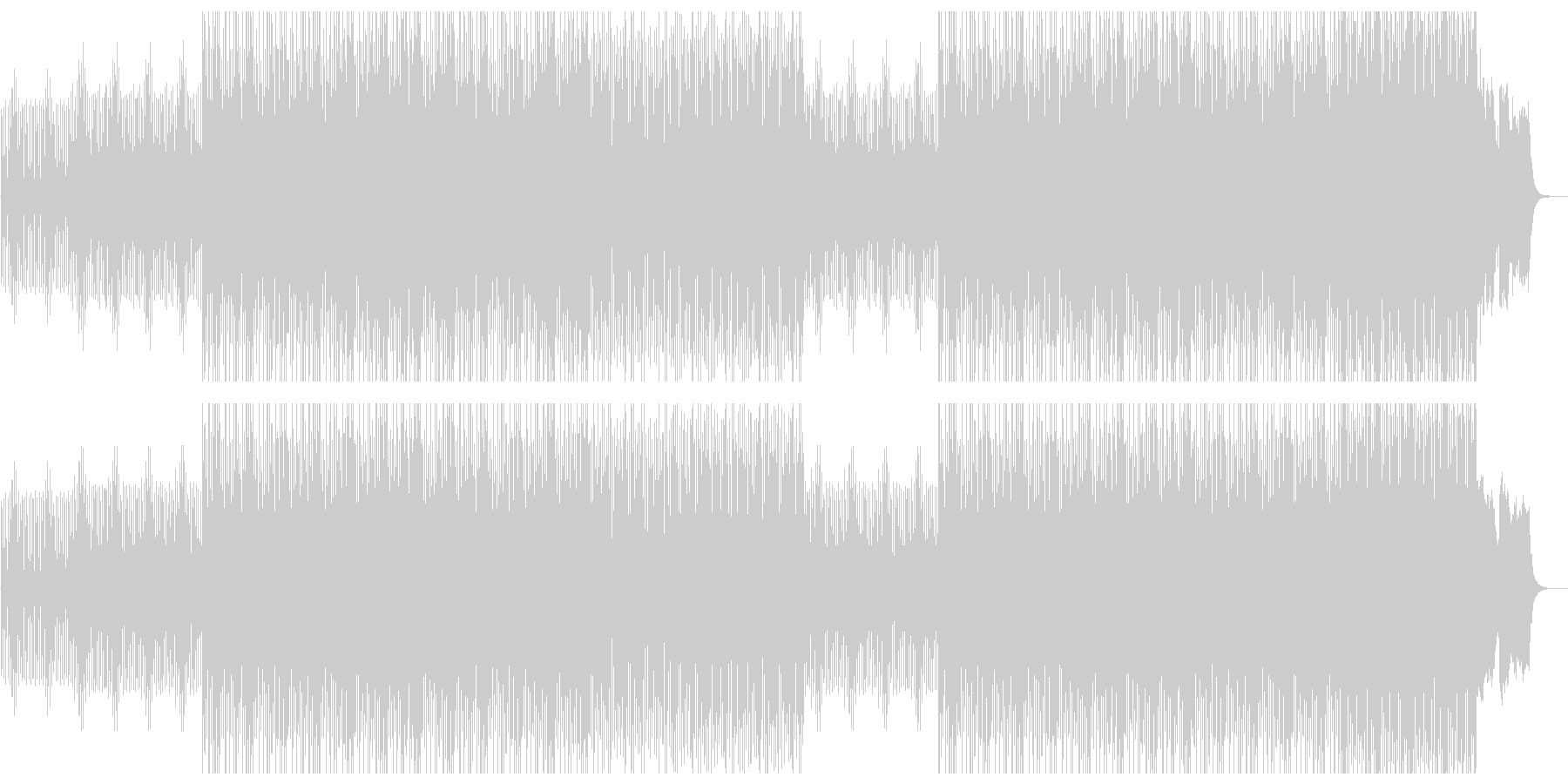 ミステリアスでメロディアスなシンセBGMの未再生の波形