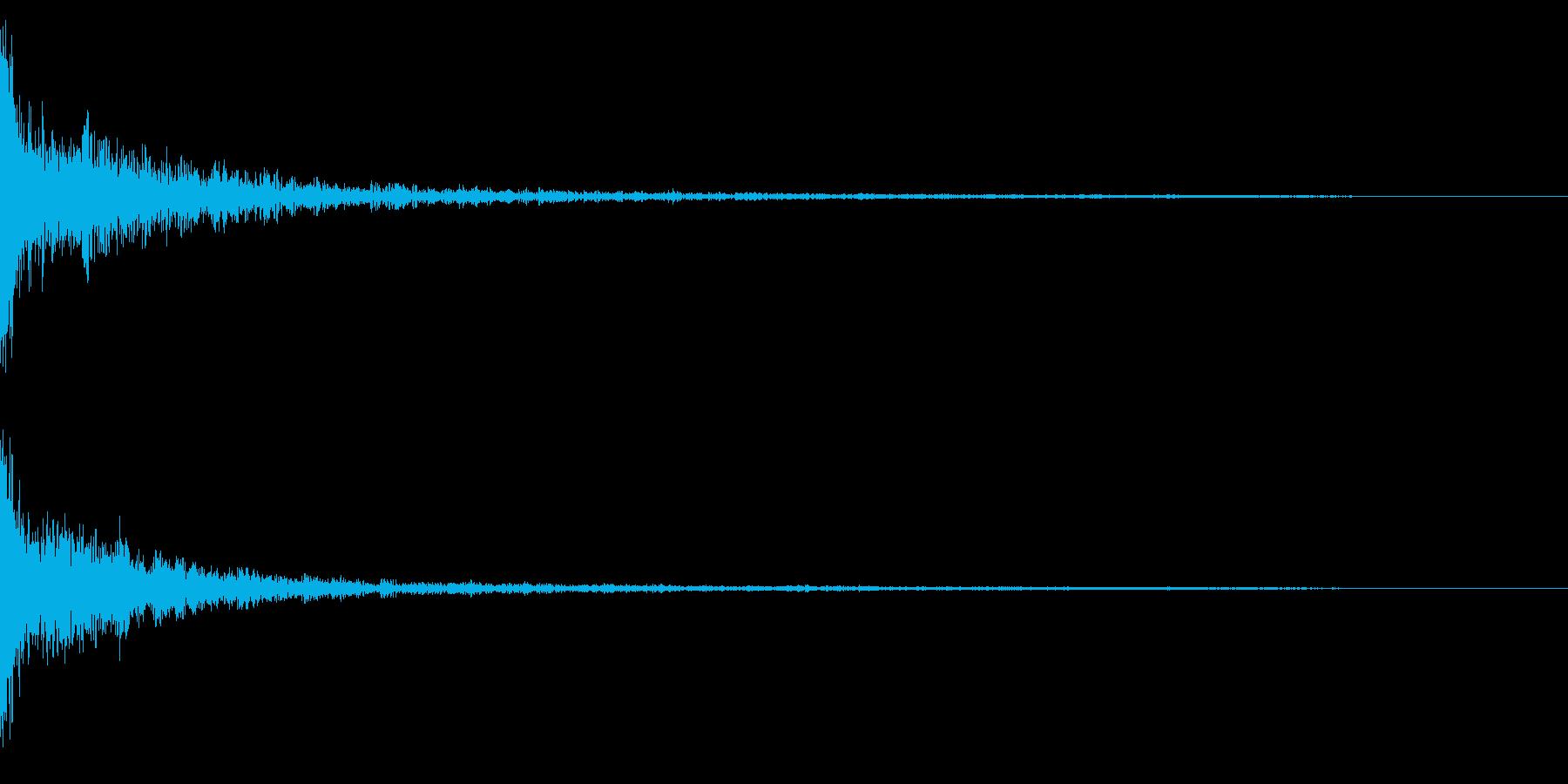 ホラー系アタック音38の再生済みの波形