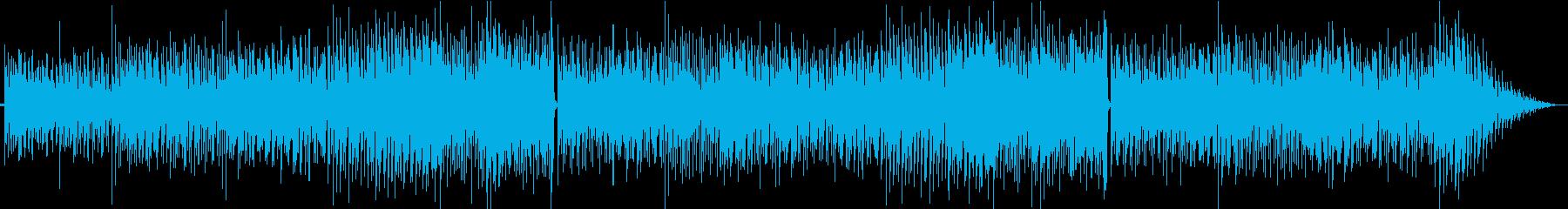 爽やかなボサノバの再生済みの波形