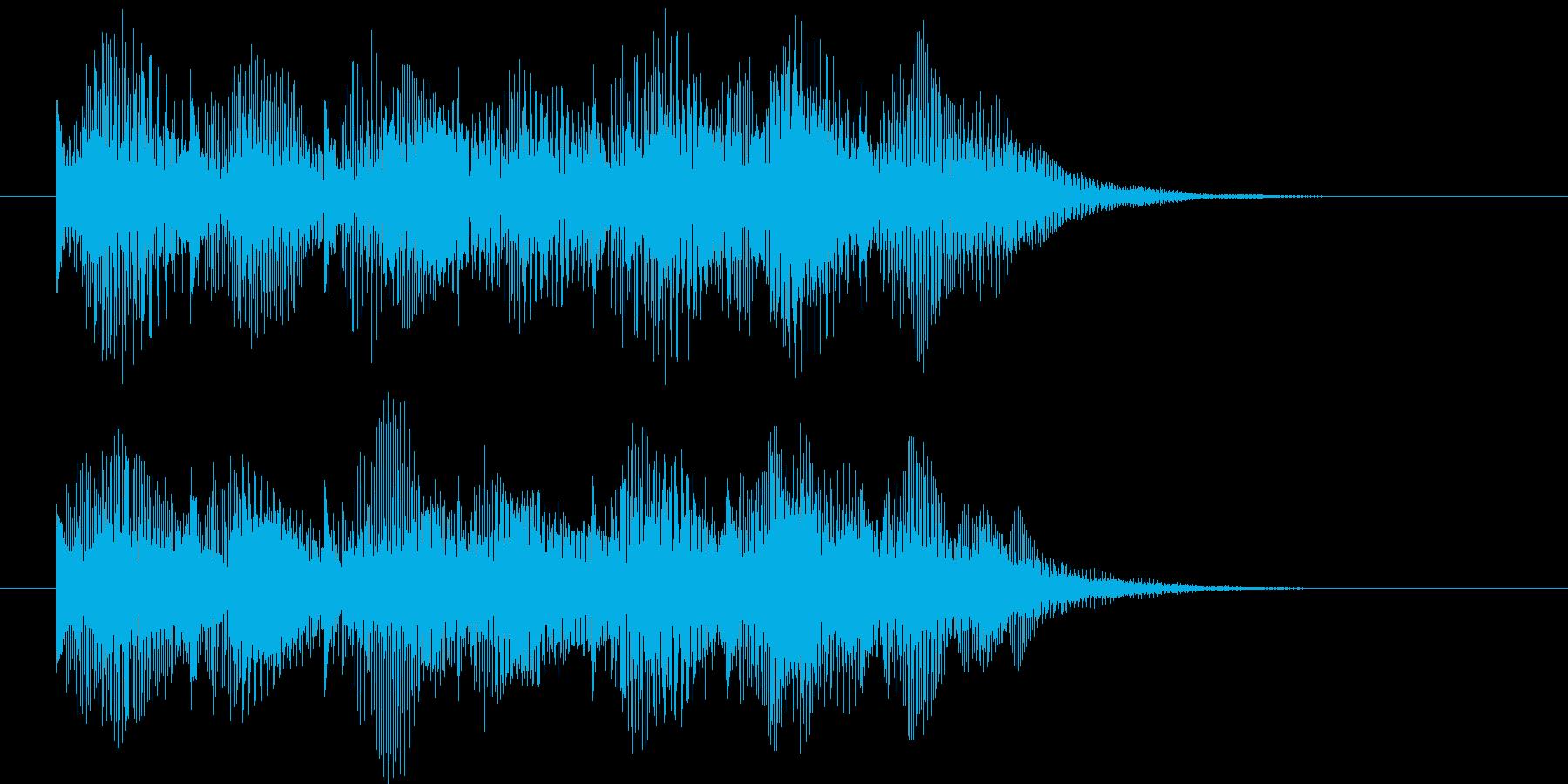 アイテム獲得、レベルアップのジングルの再生済みの波形