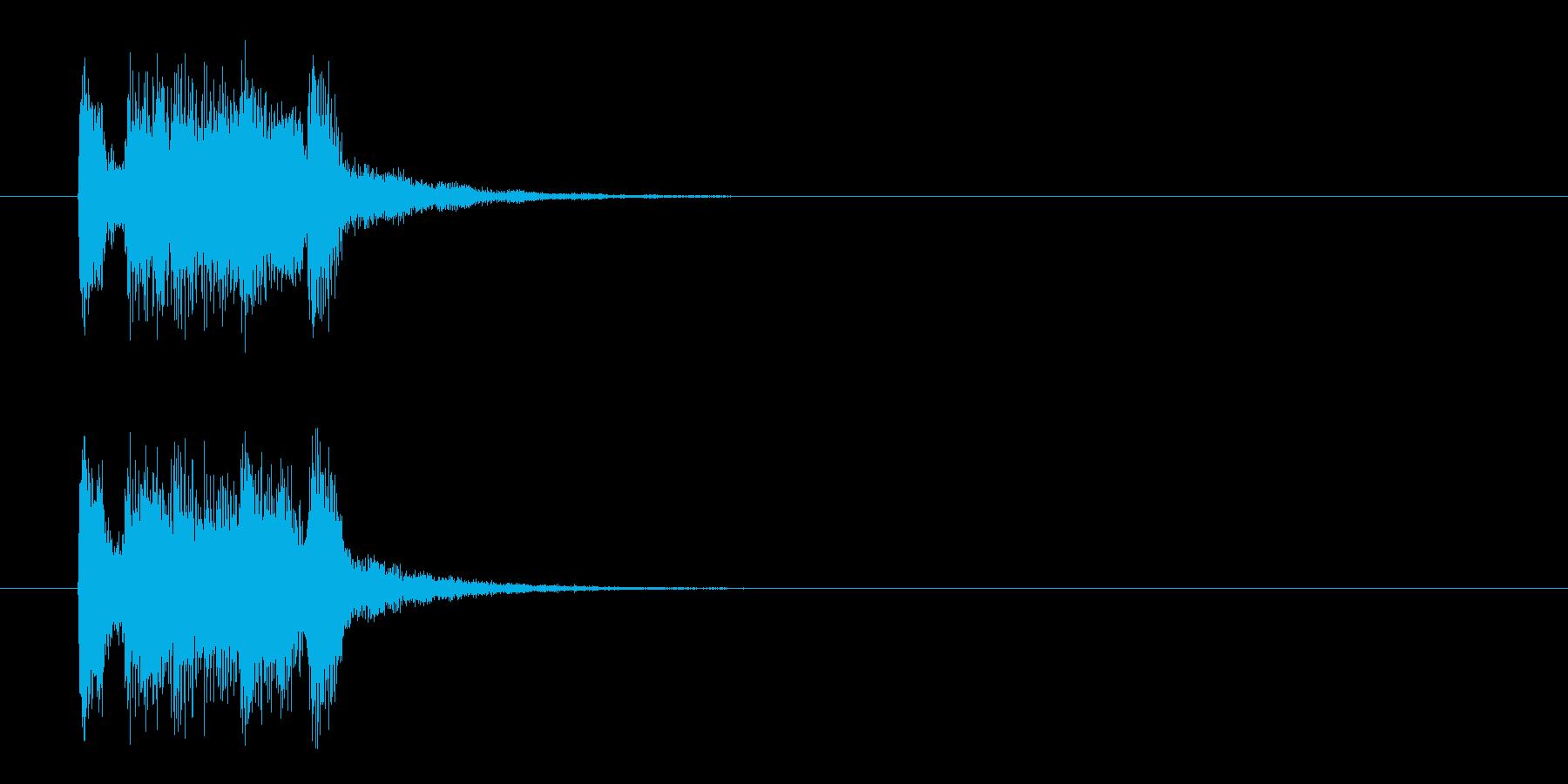 ジングル(マイナー・アタック風)の再生済みの波形